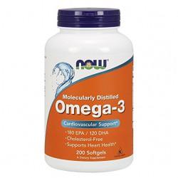 Omega-3 1000mg, 200 Softgels Now