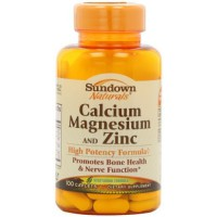 Sundown Naturals Calcium Magnesium and Zinc