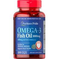 Omega-3 Fish Oil 1000 mg -100 Softgels