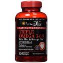 Maximum Strength Triple Omega 3-6-9 Fish, Flax & Borage Oils-120 Softgels