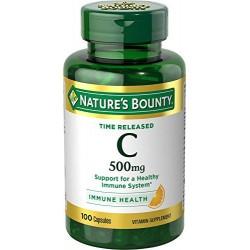 Nature's Bounty Vitamin C 500 mg  100 Capsules