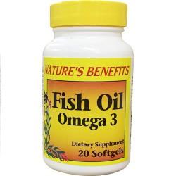 Nature's Benefits Omega-3 Fish Oil 1,000 MG