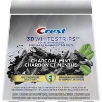 Crest 3DWhitestrips Bandes de blanchiment des dents aromatisées - Charcoal Mint
