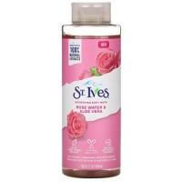 St. Ives, Refreshing Body Wash, Rose Water & Aloe Vera