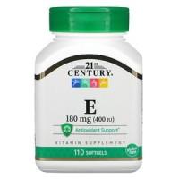 21st Century, Vitamine E, 180 mg (400 UI), 110 capsules