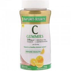 Nature's Bounty, C Gummies, Orange, 125 mg, 80 Gummies